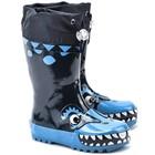 Playshoes regenlaarzen blauw monster