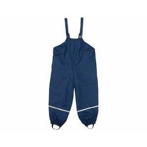 Playshoes regenbroek met bandjes katoen gevoerd marine blauw