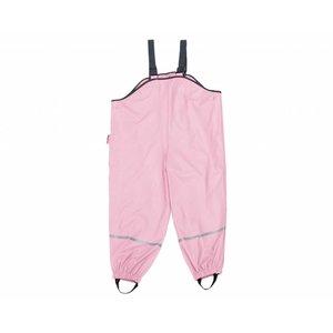 Playshoes regenbroek met bandjes katoen gevoerd licht roze