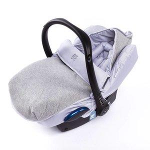 Baby Anne-Cy voetenzak met autostoelhoes jogging grijs grijs streep