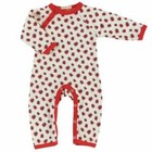 Organics for Kids eco pyjama romper long Ladybird red