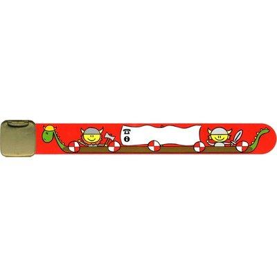 Infoband polsbandje viking rood