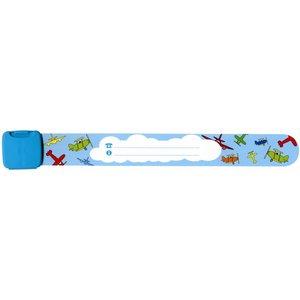 Infoband polsbandje vliegtuig blauw