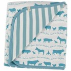 Organics for Kids eco deken Farmyard blue