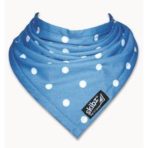Skibz bandana blauw met witte stip