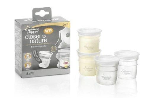 Tommee Tippee Closer to Nature melk opslag potje set van 4