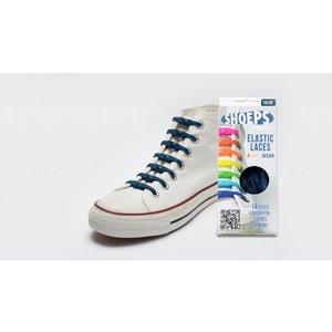 Shoeps elastische veters navy blue