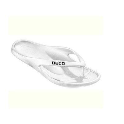 Beco teenslippers met voetbed wit