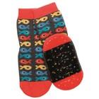 Ewers anti-slip sokken Stoppi vissen grijs oranje