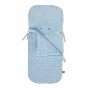 Baby's Only voetenzak autostoel 0+ kabel teddy babyblauw