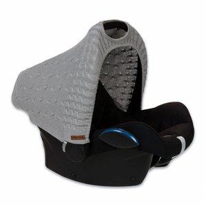 Baby's Only kap autostoel Maxi Cosi kabel teddy lichtgrijs