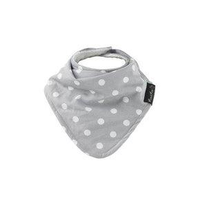 Mum2Mum fashion bandana grey white dots wit