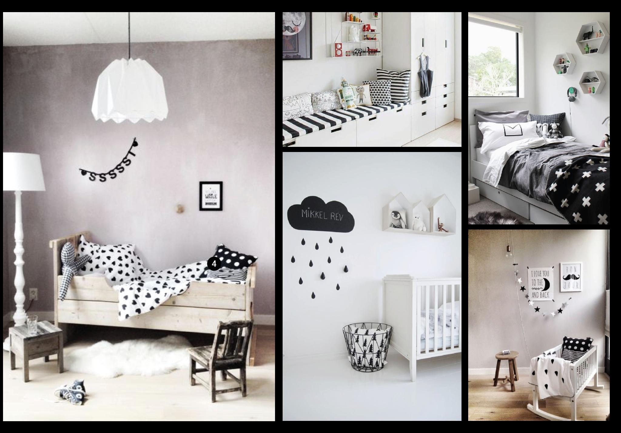 Zwart Wit Kinderslaapkamer : Zwart wit littlecool.com
