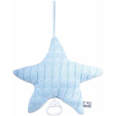 Baby's Only muziekdoos ster kabel uni baby blauw