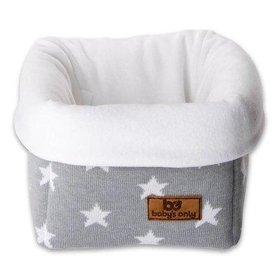 Baby's Only commodemandje ster lichtgrijs/wit