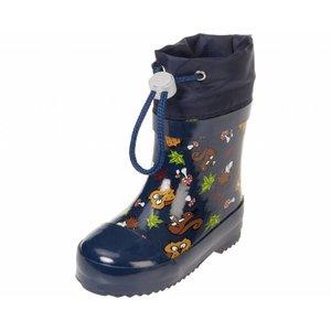 Playshoes regenlaarzen wilde dieren marine