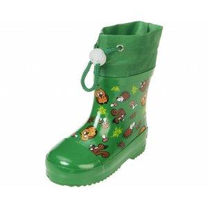Playshoes regenlaarzen wilde dieren groen