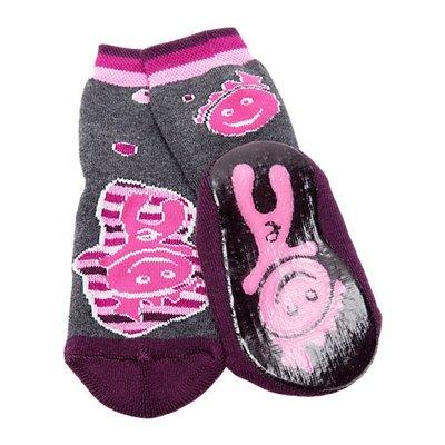 Ewers anti-slip sokken Bubblekids grijs paars