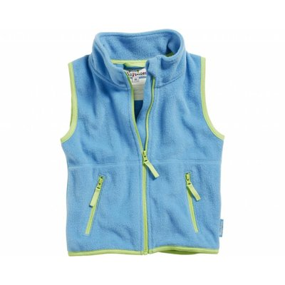 Playshoes fleece vest aqua groen