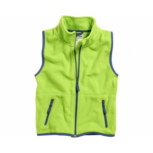 Playshoes fleece vest groen marine
