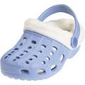Playshoes EVA croccs sandaaltjes met voering lichtblauw