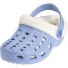 Playshoes EVA croccssandaaltjes met voering lichtblauw