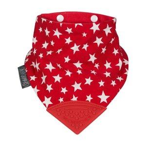 Cheeky Chompers Neckerchew slab Red Stars