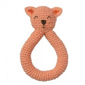 Peppa rammelaar bio katoen Cat Pink