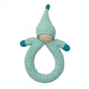 Peppa rammelaar bio katoen Doll Blue