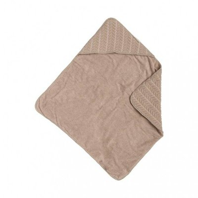 Baby Anne-Cy badcape butterfly cable beige