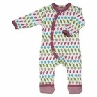 Organics for Kids eco pyjama romper long Acron raspberry mix - SALE