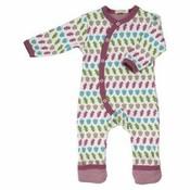 Organics for Kids eco pyjama romper long Acron raspberry mix - SALE