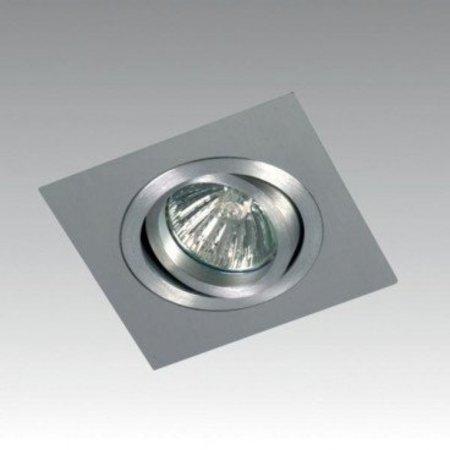 Square aluminium inbouwspot