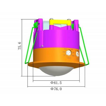 Bewegingsmelder inbouw (plafond)