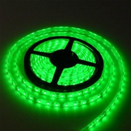 Groen licht LED strip 5 mtr - Waterproof