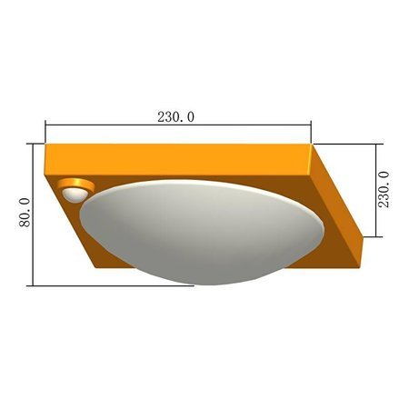 LED plafonniere met bewegingsmelder - type 70A