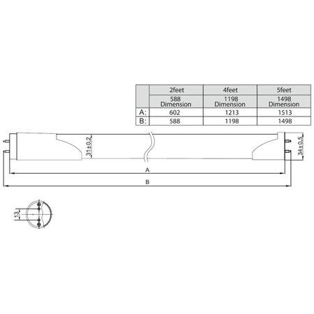 LED TL buis met sensor 9W - 60cm - T8 (0-100)