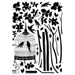 Takken met vogelkooitje