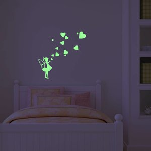 Muursticker Glow-in-the-dark elfje