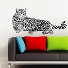 Muursticker luipaard zwart
