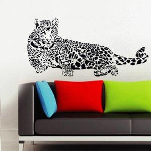 Muursticker zwart luipaard