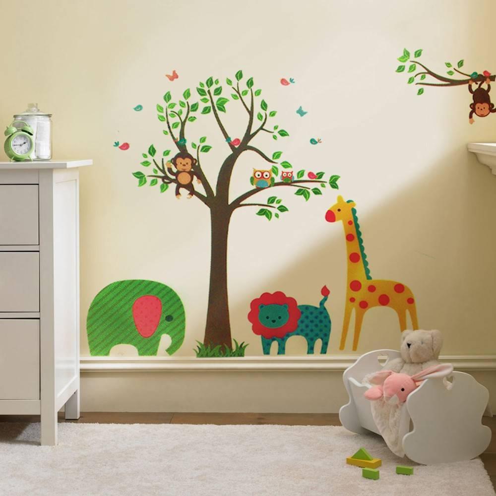 Decoratie Boom Babykamer.Muursticker Babykamer Dieren Referenties Op Huis Ontwerp