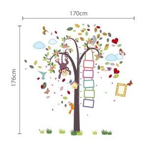 Muursticker groeimeter  aapje in boom XXL
