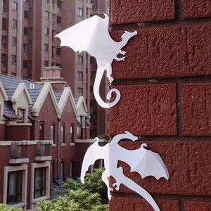 Muursticker stoere 3D dinosaurussen wit