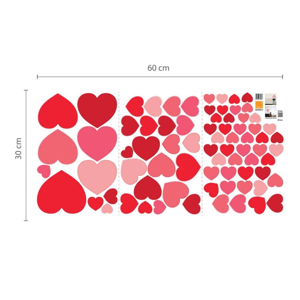 muursticker hartjes muursticker mooie hartjes deze mooie harten staan ...