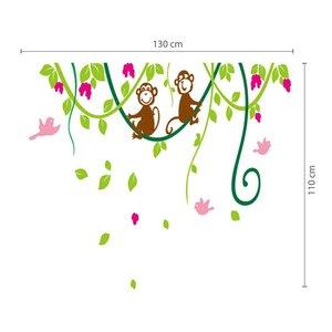 Muursticker twee aapjes in tak