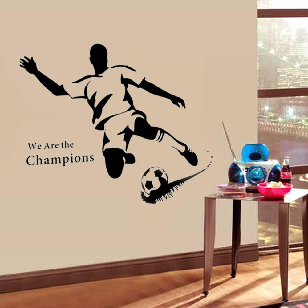 muursticker voetballer - muursticker kinderkamer - muurstickercenter, Deco ideeën