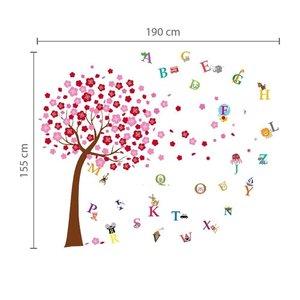 COMBI: Grote roze boom met letters
