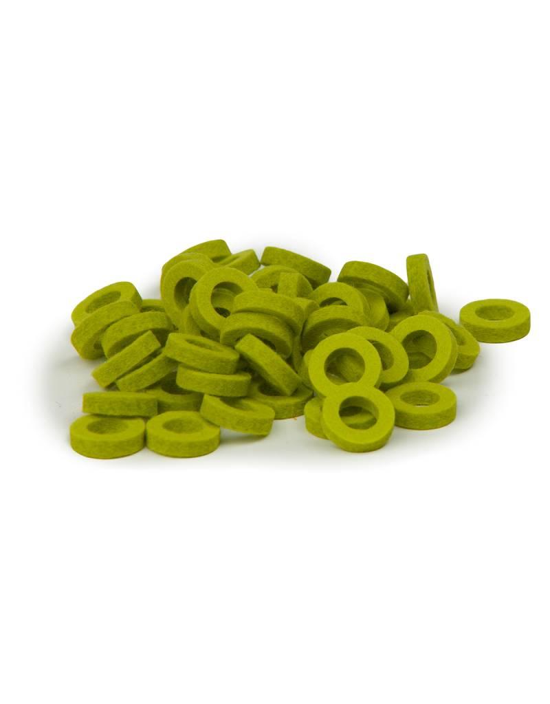 Natural Felt rings Lime