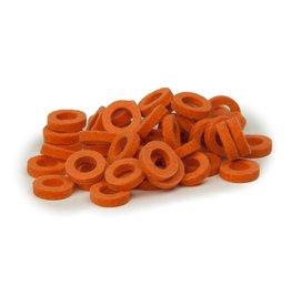Natural Felt rings Pastel Orange